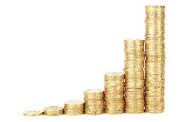 Pila di monete d'oro