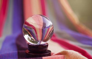 Palla di cristallo per predire il futuro