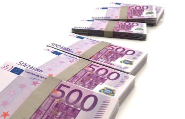 Mazzette di banconote da 500 Euro